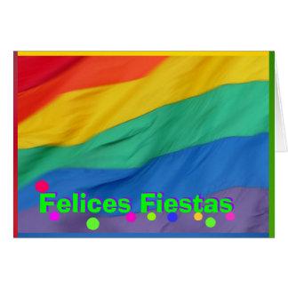Carte - fiestas de Felices - Bandera del Arco Iris