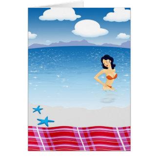 Carte Fille de plage