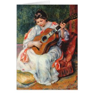 Carte Fille de Renoir avec le chef d'oeuvre de guitare