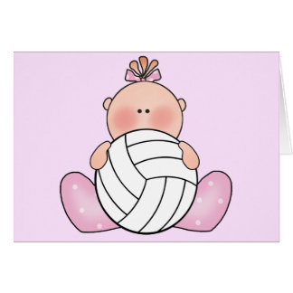 Carte Fille de volleyball de Lil