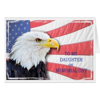Carte Fille, Jour du Souvenir, avec un aigle chauve