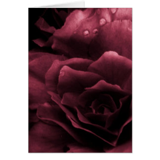Carte Fin de rouge de prune d'un double bégonia