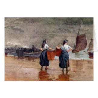 Carte Fishergirls sur la plage