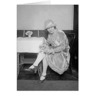 Carte Flacon caché en Garter, 1926