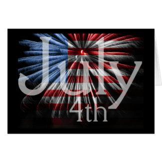 Carte FlagFireworks 4 juillet