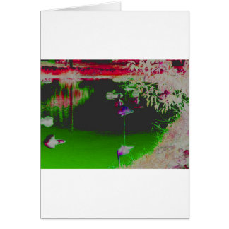 Carte Flamant en couleurs