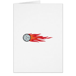 Carte Flammes de volleyball