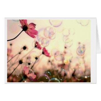 Carte Fleur avec des bulles