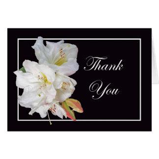 Carte Fleur blanche de rhododendron, Merci