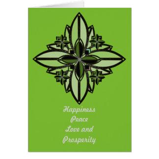 Carte fleur celtique II de bonne chance de fer de