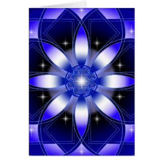 Carte Fleur cosmique