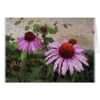 Carte fleur de cône