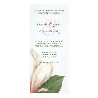 Carte Fleur de magnolia du sud épousant | rose et blanc