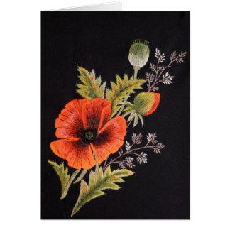 Carte Fleur de pavot