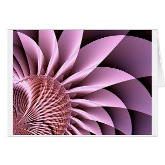 Carte Fleur rose