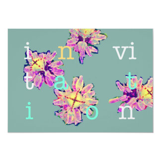 Carte Fleurs de cactus d'invitations