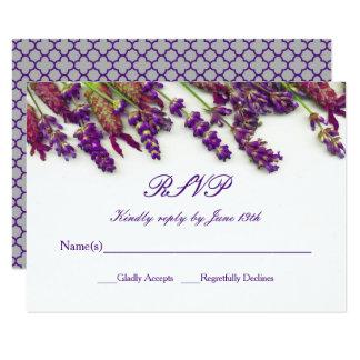 Carte Fleurs de lavande - RSVP