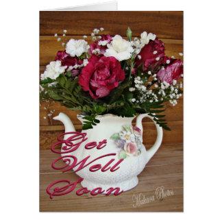 Carte Fleurs de théière