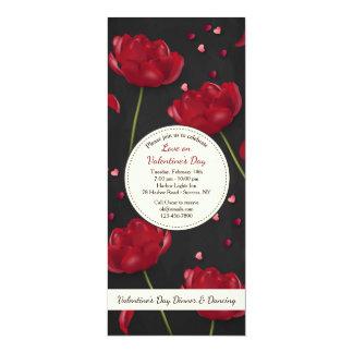 Carte Fleurs d'invitation d'amour