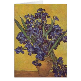 Carte Fleurs d'iris de Vincent Willem Van Gogh