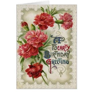 Carte Fleurs rouges de fleur de bégonia