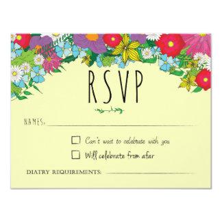 Carte Fleurs sauvages - été - mariage - RSVP