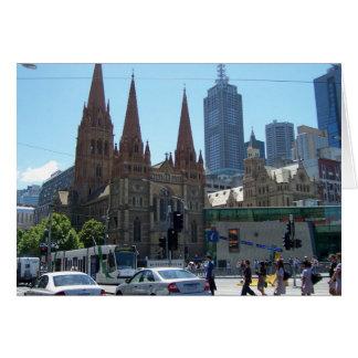 Carte Flinders et rues de Swanston - Melbourne