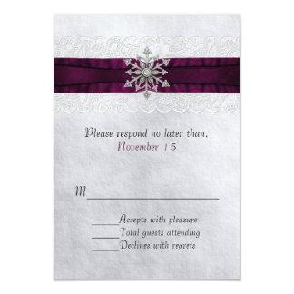 Carte Flocon de neige orné de bijoux chic épousant RSVP