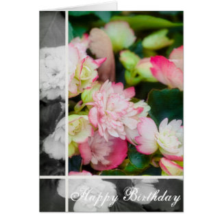 Carte Floral - bégonia