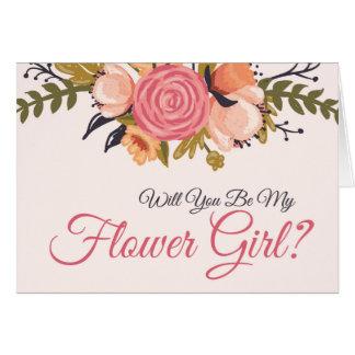 Carte florale de demande de demoiselle de honneur