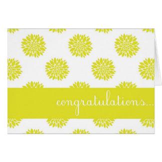 Carte florale de félicitations de chrysanthème