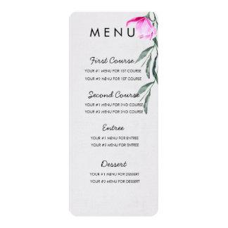 Carte florale de menu d'aquarelle de magnolia