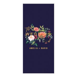 Carte florale de menu de dîner d'automne