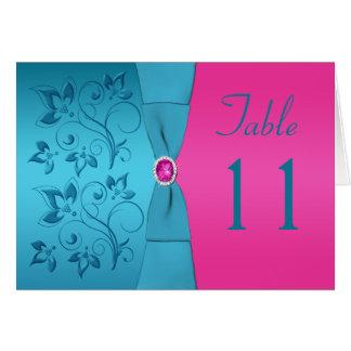 Carte florale de nombre de Tableau de fuchsia et