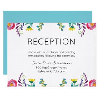 Carte florale de réception