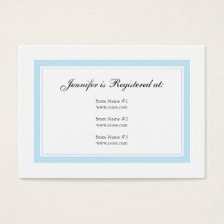 Carte florale d'enregistrement de bébé - bleu