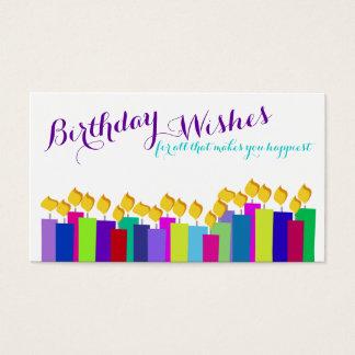Carte florale d'insertion de cadeau de bougies