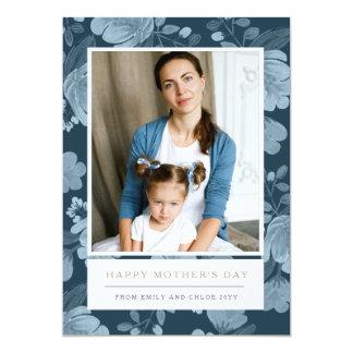 Carte florale du jour de mère de marine