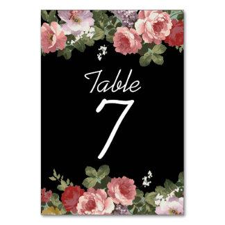 Carte florale élégante de Tableau