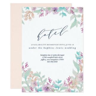 Carte florale fraîche d'hôtel de mariage carton d'invitation  11,43 cm x 15,87 cm