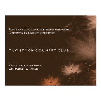 Carte florale minimaliste de réception de mariage carton d'invitation 10,79 cm x 13,97 cm