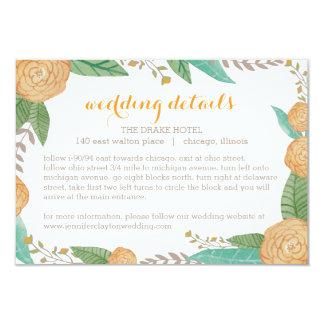 Carte florale peinte de clôture de mariage carton d'invitation 8,89 cm x 12,70 cm