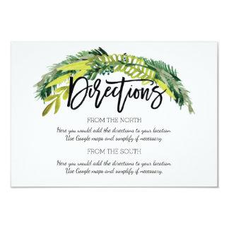 Carte florale rustique de direction de mariage de carton d'invitation 8,89 cm x 12,70 cm