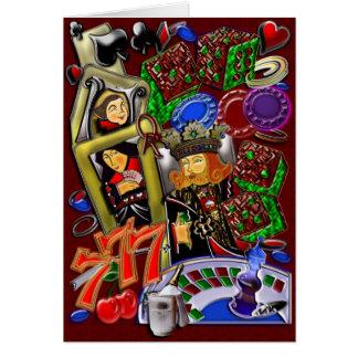 Carte Flux royal de coeur, art de casino