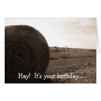Carte Foin !  C'est votre anniversaire…