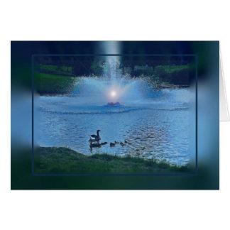 Carte Fontaine avec des canards