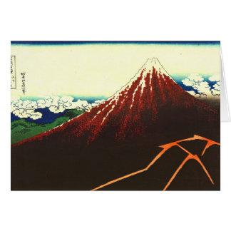 Carte Foudre au-dessous de Fuji rouge 1826