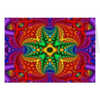 Carte Fractale psychédélique d'arc-en-ciel