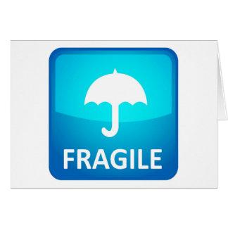 Carte Fragile. Manipulez avec soin !