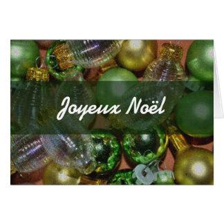 Carte française de Joyeux Noël